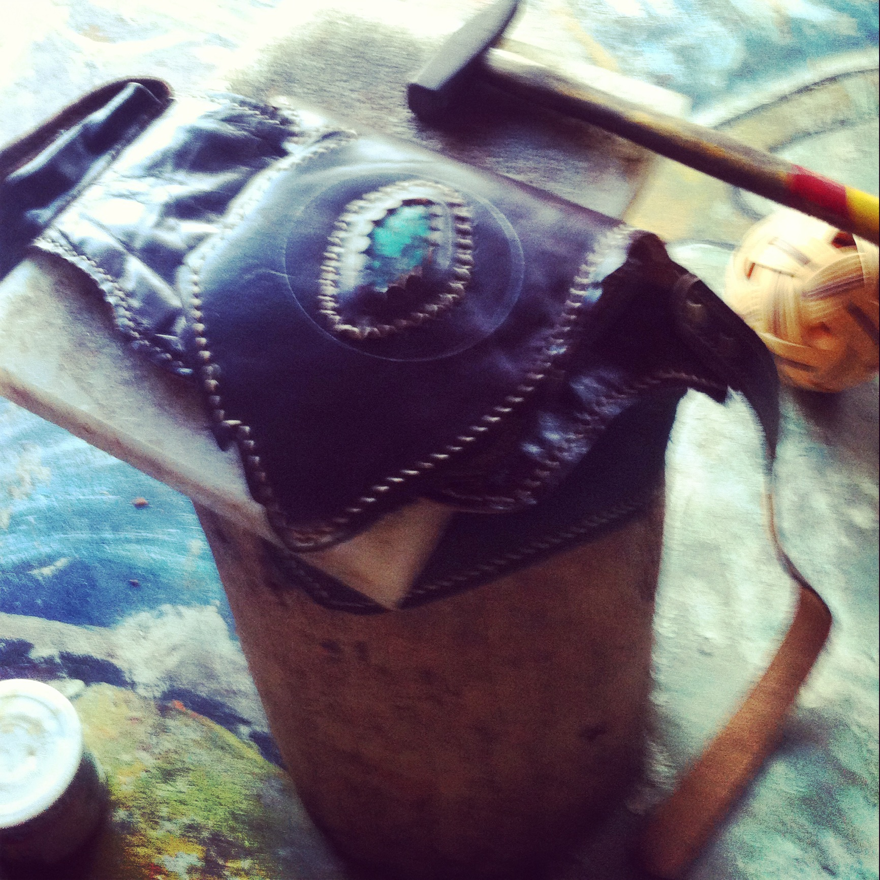 handmade leather pouch by Freedom Creations