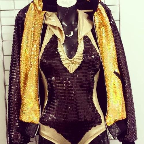 Fuudhoods custom made jacket and leotard