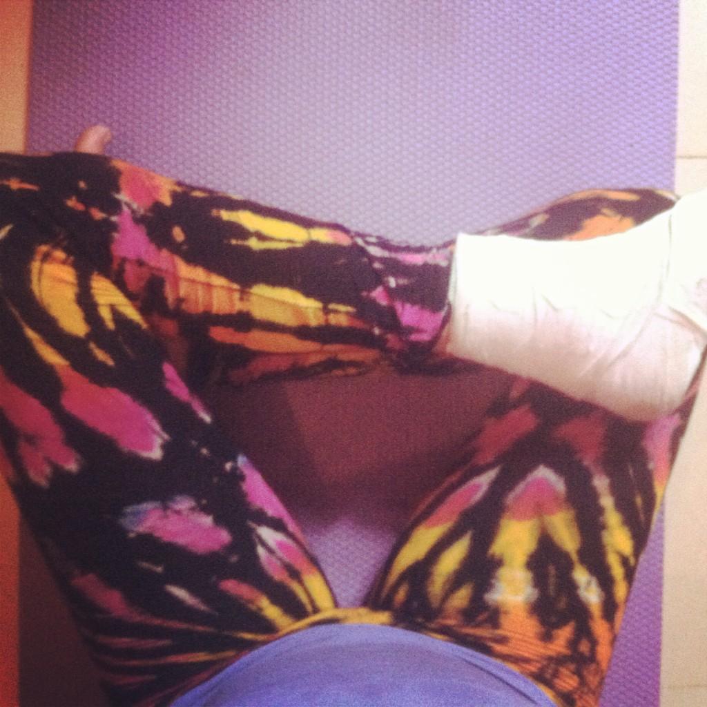 yoga with a broken foot